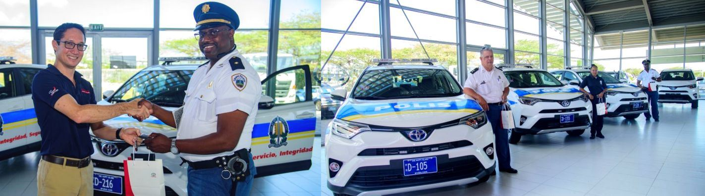 Aruba Police Force Receives RAV4 Vehicles from Garage Cordia!