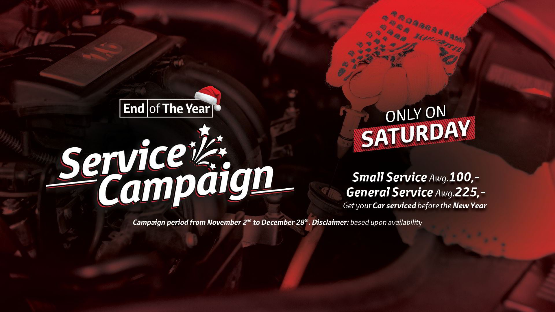 End of Year Service Campaign slide