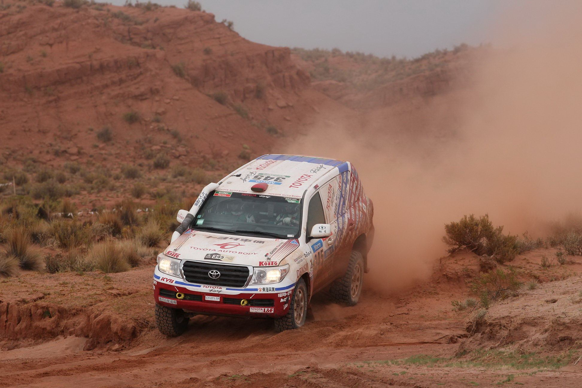 Team Land Cruiser in the Production Category held onto 1st and 2nd at the finish line