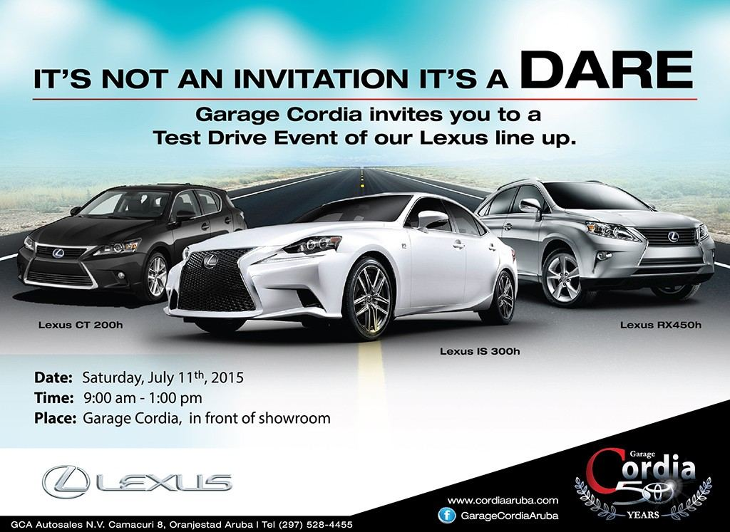 Test Drive Event of our Lexus Line-Up