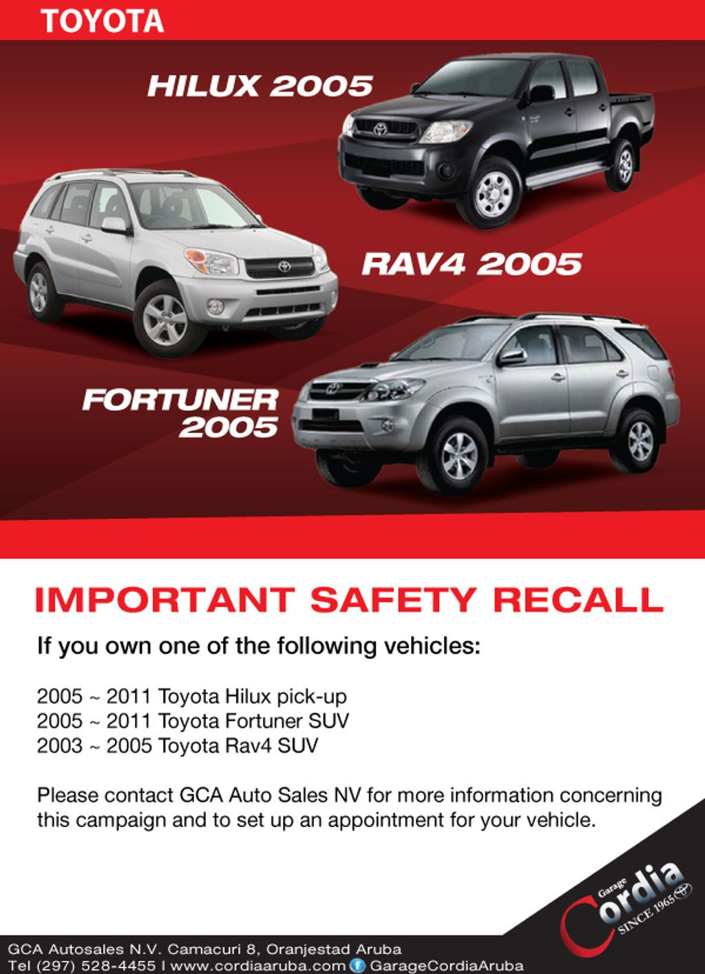Toyota Important Safety Recall