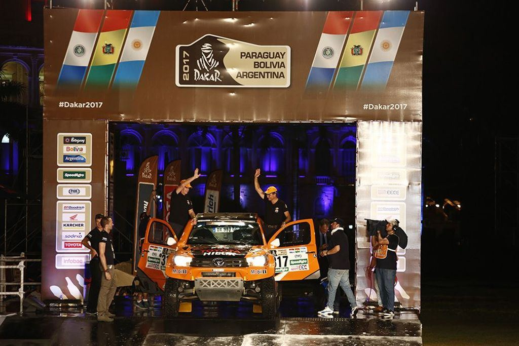 The Podium Ceremony: The Starting Shot for Dakar 2017